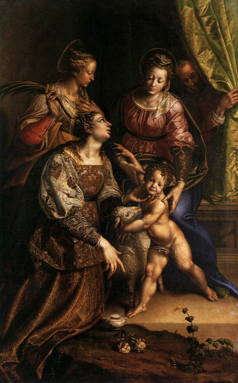 Virgin and Child with Saints by Antonio Campi